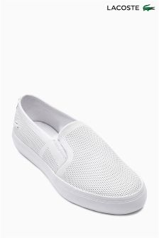 Lacoste® White Gazon Slip On