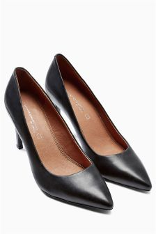 Leather Point Court Shoes