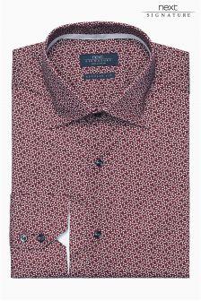 Burgundy Signature Pattern Shirt