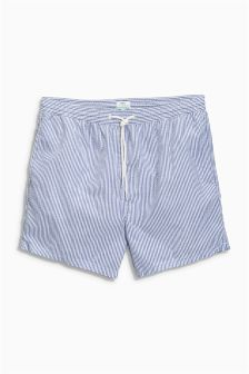 Seersucker Stripe Swim Shorts