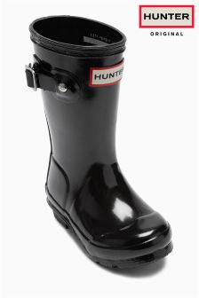 Black Hunter First Gloss Wellington Boot