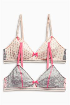 Teen Non-Wire Bras Two Pack