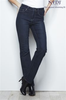 NYDJ Mid Wash Straight Jeans