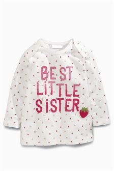 Best Little Sister Strawberry T-Shirt (0mths-2yrs)