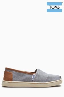 Toms Grey Chambray Alpagata Slip-On Shoe