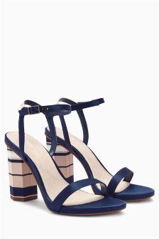 Feature Heel Glam Sandals