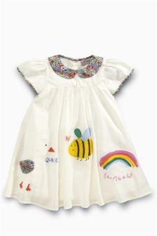 Ecru Character Dress (3mths-6yrs)