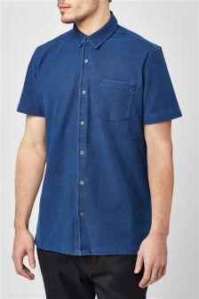 Short Sleeve Textured Shirt