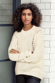 Ladder Stitch Sweater