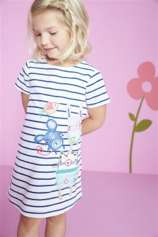 Stripe Character A-Line Shift (3mths-6yrs)