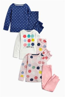 Character Snuggle Fit Pyjamas Three Pack (12mths-8yrs)