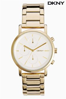 Gold DKNY Tone Soho Chronograpgh Watch