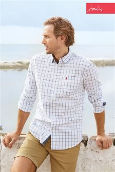 Blue/White Joules Welford Check Shirt