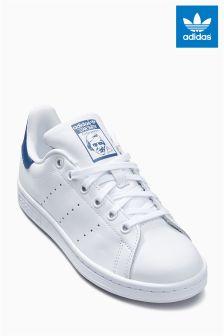 adidas Originals White/Blue Stan Smith