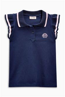 Frill Sleeve Poloshirt (3-16yrs)