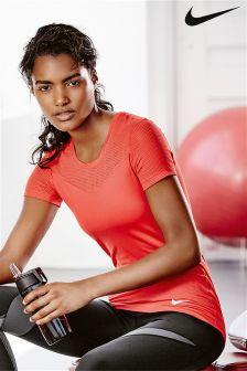 Nike Gym Pro Hypercool Red Short Sleeve T-Shirt