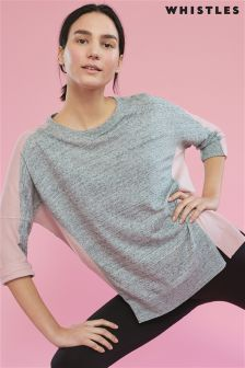 Whistles Grey Colourblock Sweat Top