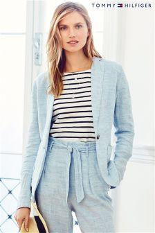 Blue Tommy Hilfiger Collection Linen Blazer