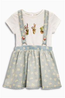Blue Denim Braces Dress (3mths-6yrs)