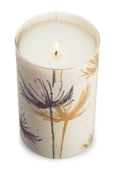 Saffron And Amberwood Fragranced Pillar Candle
