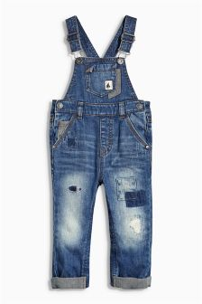 Washed Dungarees (3mths-6yrs)