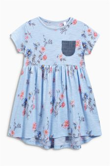 Blue Floral Tunic (3mths-6yrs)