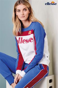 Blue/White Ellesse® Crew Sweater
