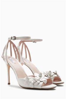 Leather Flower Bridal Sandals