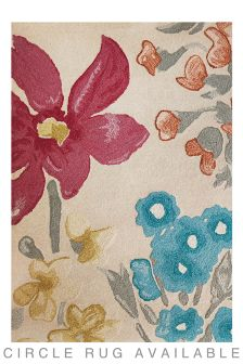 Wool Bright Painterly Floral Rug