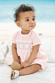 Pink Stripe Blouse And Bloomer Set (0mths-2yrs)