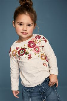 Floral Embellished T-Shirt (3mths-6yrs)