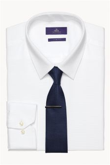 Shirt, And Tie Clip Set