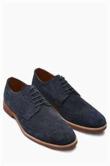 Suede Brogue