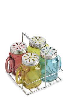 Set Of 4 Jam Jar Drink Caddy
