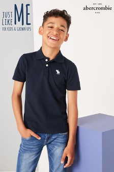 Navy Abercrombie & Fitch Classic Polo