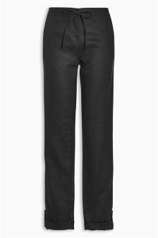 Linen Taper Trousers