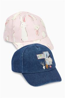 Bunny Caps Two Pack (Younger Girls)
