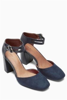 Square Toe Two Part Shoes