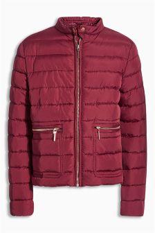 Burgundy Short Padded Jacket (3-16yrs)