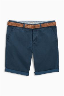Geo Belted Shorts