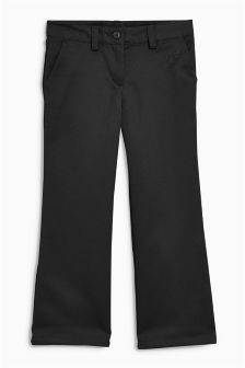 Slim Woven Boot Cut Trousers (3-16yrs)