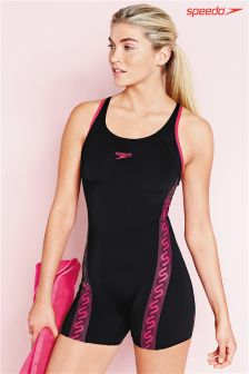 Black Speedo® Monogram Legsuit