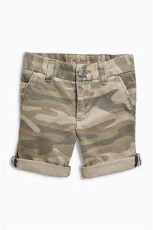 Khaki Camouflage Chino Shorts (3-16yrs)