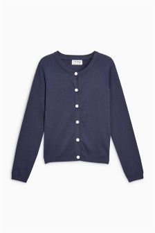 Pearl Button Cardigan (3-16yrs)