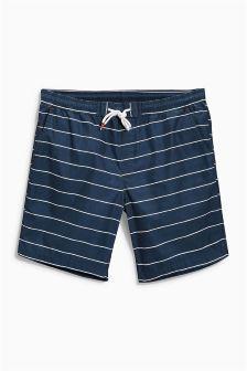 Navy Stripe Swim Shorts