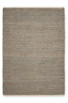 Jute And Chenille Mix Grey Rug