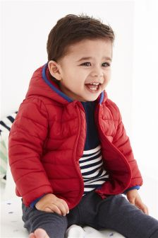 Red Channelled Jacket (0-18mths)