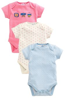 Flower Bodysuits Three Pack (0mths-2yrs)