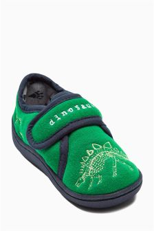 Green Dino Slipper (Younger Boys)