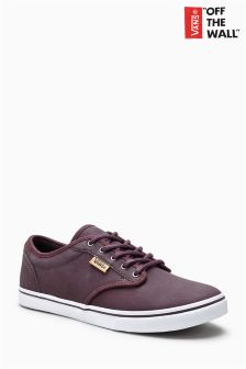 Vans Maroon Leather Atwood Low